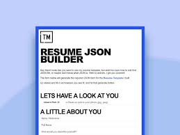 JSON Generator For A Resume Template By Leo Herrera Dribbble Mesmerizing Json Resume