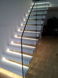 Image Square Step Led Stair Lighting Glass Staircase Railing Interior Design Pinterest Wonderful Staircase Lighting Magic And Spells In The Home On The
