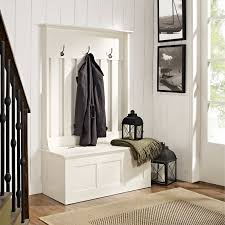 Bench Coat Rack With And Mirror Hall Tree Storage