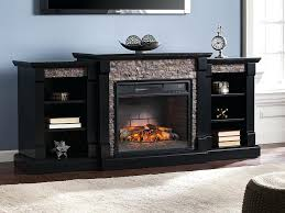 Electric Fireplaces Entertainment Centers Infrared Fireplace Center In Black Walmart