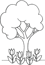 Coloring Pages Of Trees Apple Tree Coloring Page Apple Tree Coloring