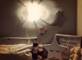lighting for nursery room. Baby Bedroom Nightlight Stuck At The Walls Of Nursery Room With Warm Feel Lighting For G