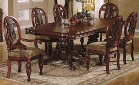 Traditional dining room furniture Cherry Furniture Depot Cherry Finish Traditional Dining Room Whand Carved Details