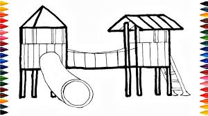 Playground Coloring Pages Saglikme