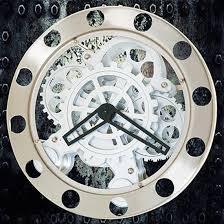 steampunk gear wall clock