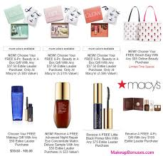 macy 39 s free gift with purchase offers makeup bonuses