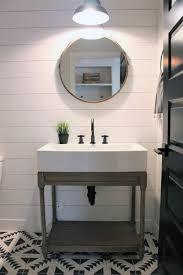 Rustic half bathroom ideas Decorating Ideas Half Bath Ideas Rustic Design With White Shiplap Walls Florinbarbuinfo Top 60 Best Half Bath Ideas Unique Bathroom Designs