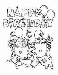 Leuk Voor Kids Happy Birthday Taart Stoer Kleurplaat Happy