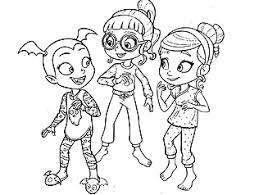 Order a custom coloring page for a special birthday! Free Printable Disney Junior Vampirina Coloring Pages For Kids