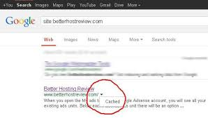 Restore your website from Google Cache – Better Host Review