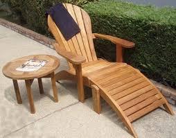 teak adirondack chairs. Teak Adirondack Chair With Ottoman Chairs O