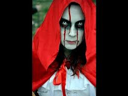 how to create a horror look makeup red riding hood mary bride tutorial