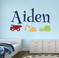 tractor wall decals custom trucks name wall sticker home decoration vinyl decals for boys room kids