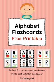 Large colorful alphabet flashcards for kindergarten & preschool! Alphabet Flashcards Free Printable The Teaching Aunt