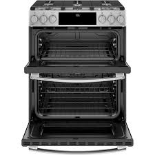 ge profile 67 total cu ft slidein double oven gas range with lower convection and wifi connect ge profile double oven c0