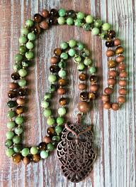 wisdom mala 108 bead mala chrysoprase sandalwood