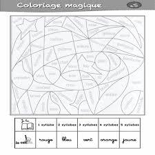 10 Coloriage Magique Lettre Et Syllabes