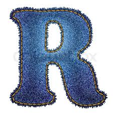 Jeans Alphabet Denim Letter R Stock Vector Colourbox