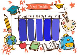 Risultati immagini per school timetable