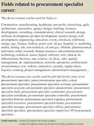 ... 16. Fields related to procurement specialist ...