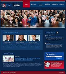 Political Party Website Template 19937