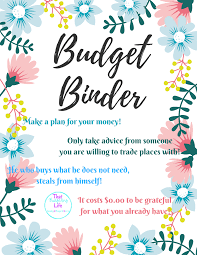 Binder Cover Page Budget Binder That Budgeting Life