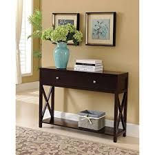 modern wooden espresso dark brown narrow console sofa table with 2storage drawers console sofa table storage o83 sofa