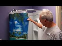 34 corner shower installation