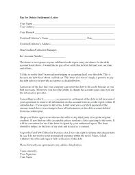 debt settlement letter template agreement out of court