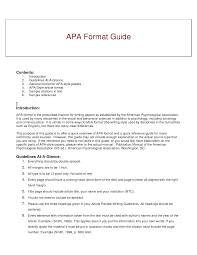 012 Research Paper Short Apa Format Resume Example Of Guide For