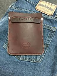 customize your leather pocket protector for pants lab by manypawz leather art leather cuffs