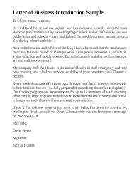 5 Business Introduction Letter Templates Formats Examples In