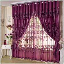 Printed Curtains Living Room Living Room Floral Print Fabric Eyelet Curtain With Draped For
