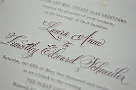 Letterpress Wedding Invitation With Belluccia Calligraphy Font By