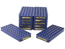 Frankford Arsenal Perfect Fit Reloading Tray Chart Frankford Arsenal 50 Round Perfect Fit Reloading Tray Assortment Blue Package Of 12
