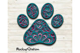 Freesvg.org offers free vector images in svg format with creative commons 0 license (public domain). Dog Paw 3d Layered Mandala Graphic By Mockup Station Creative Fabrica