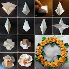 How To Make A Flower Out Of Paper Step By Step Diy Origami Flowers Step By Step Tutorials K4 Craft