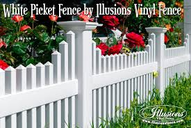 white picket fence. This Beautiful American Dream White Picket Fence Style V706-4 By Illusions Vinyl Is