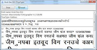 India Typing Font Installation Instruction Hindi Fonts