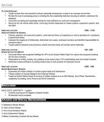 Gallery Of Military Resume Sample Free Resume Template Professional