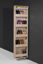Slim Shoe Cabinet Germania Contemporary Wall Mounted Tall Shoe Cabinet With Mirror