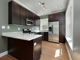 Dark Brown Kitchen Cabinet Gray Wall Irvbauerscreenwriting