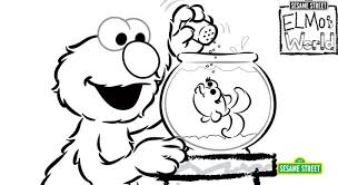 Small Picture Elmos World Coloring Page Printable Sesame Street Preschool