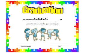 Preschool Graduation Certificate Template Free 2019 Ideas