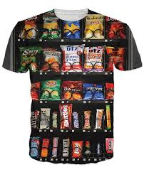 T Shirt Vending Machine Mesmerizing Vending Machine T Shirt Chocolate Bar 48d Unisex Print Women Men