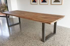 amazing 29 best dining tables images on contemporary within wood throughout wood table with metal legs modern