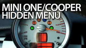Mini Countryman Battery Warning Light How To Enter Hidden Menu In Mini R56 One Mini Cooper Mk2 Mini Hatch