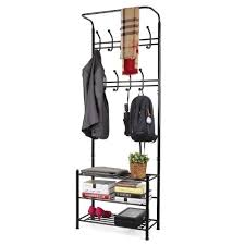Bench And Coat Rack Set Entryway Bench and Coat Rack Set 100 With Storage Compartment 46