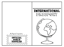 Free Passport Template For Kids template Printable Postcard Template For Students To Free Templates 36
