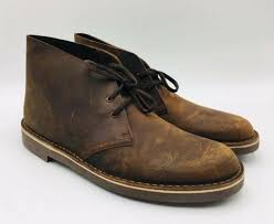 clarks men s bushacre 2 chukka boots size 10m dark brown leather msrp 100